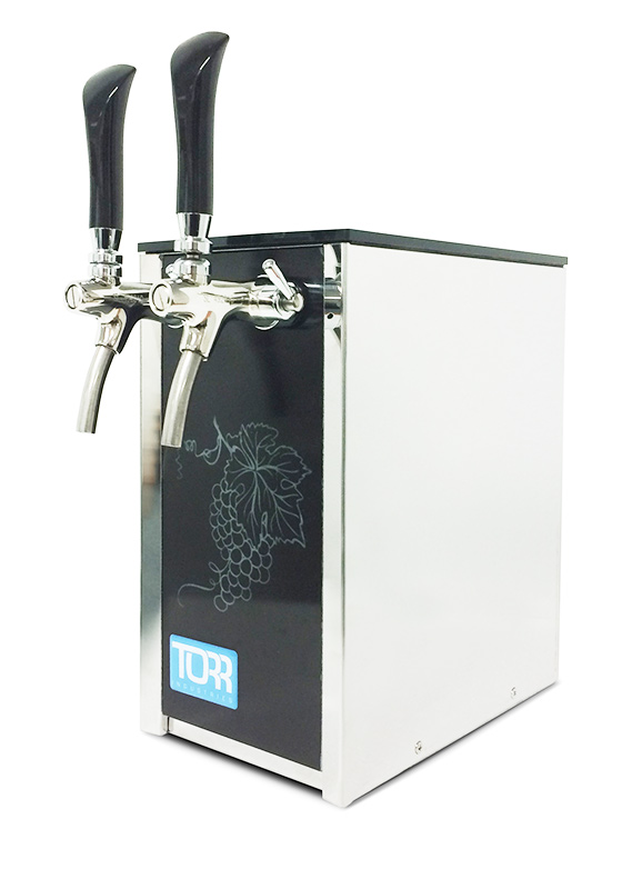 Torr cooled bar top wine dispensing units